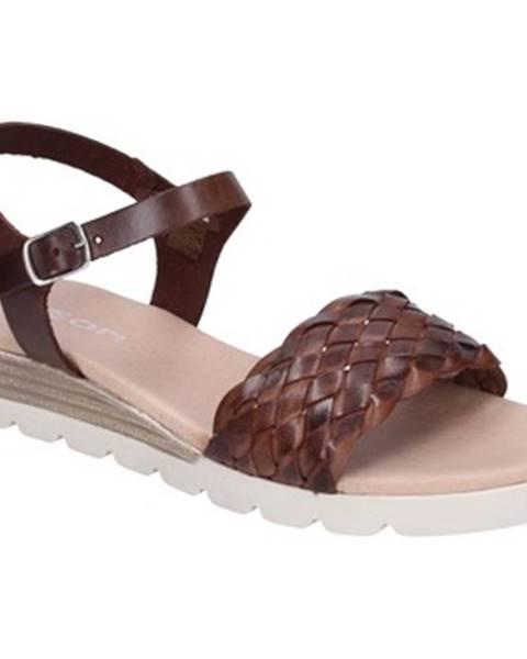 Hnedé sandále Rizzoli