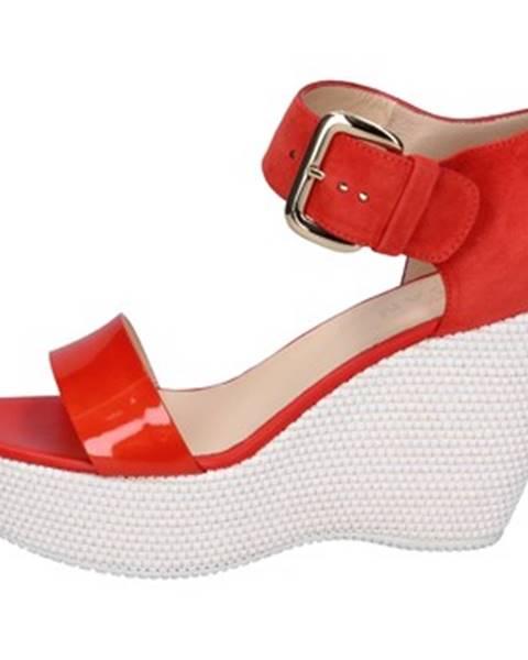 Červené sandále Hogan