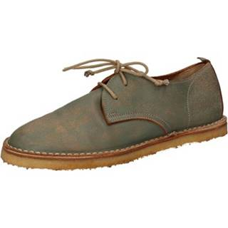 Nízka obuv do mesta Moma  classiche verde pelle AD49