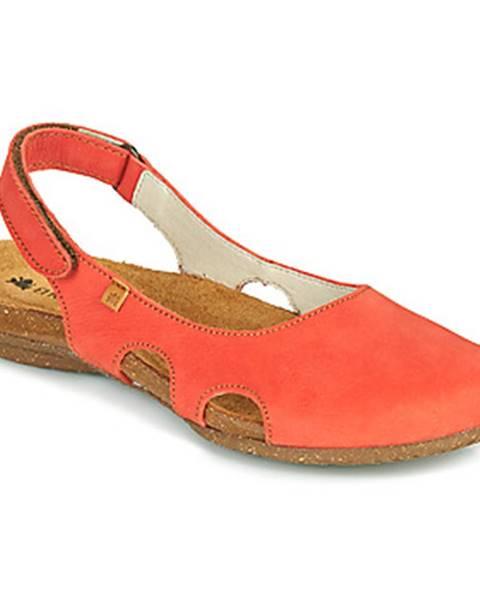 Oranžové sandále El Naturalista