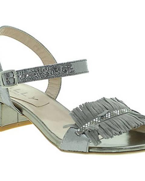 Strieborné sandále Mally