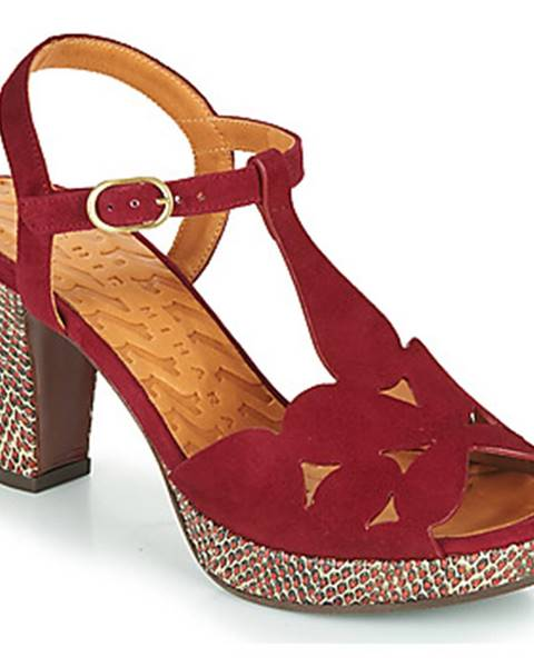 Bordové sandále Chie Mihara