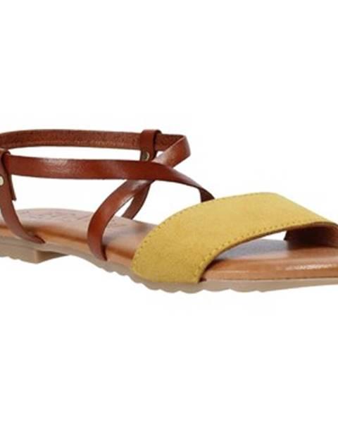 Žlté sandále Jeiday