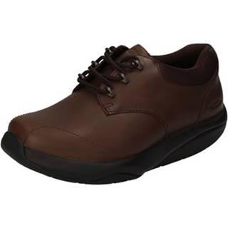 Nízke tenisky Mbt  sneakers marrone pelle tessuto dynamic AB448