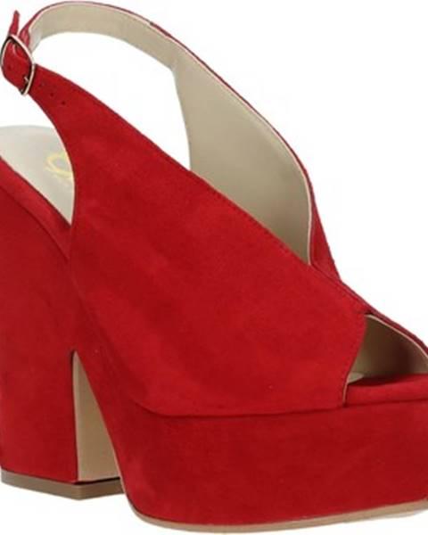 Červené sandále Grace Shoes