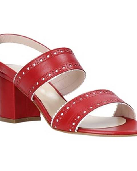 Červené sandále Casanova