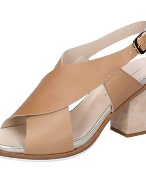 Hnedé sandále Guido Sgariglia