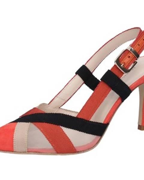 Červené sandále Guido Sgariglia