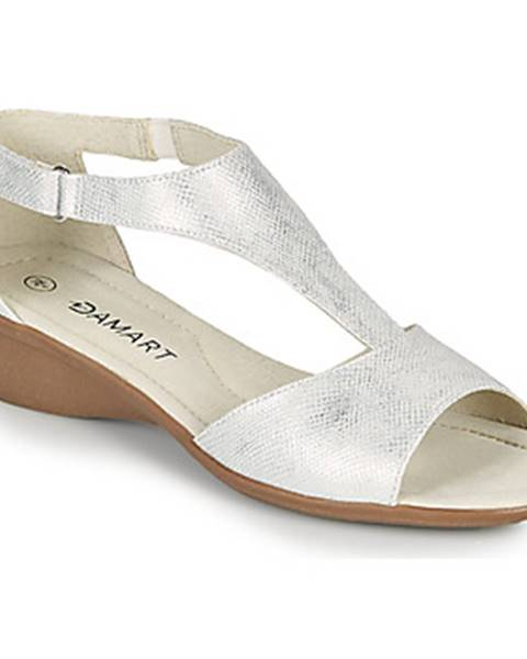 Strieborné sandále Damart