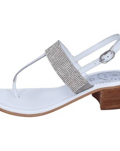 Biele sandále Adriana Del Nista