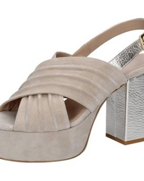 Béžové sandále Le Marine