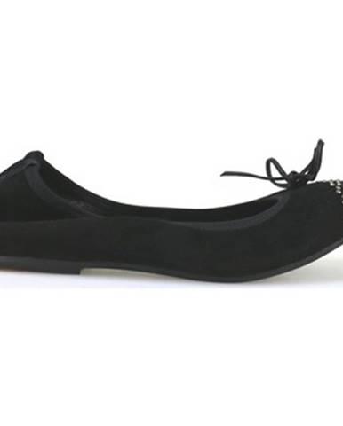 Čierne balerínky Crown