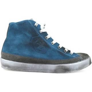 Členkové tenisky Beverly Hills Polo Club  POLO sneakers blu grigio camoscio AJ05