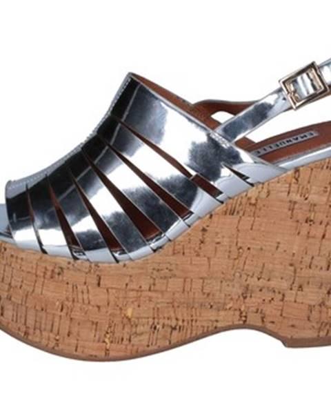 Strieborné sandále Emanuélle Vee