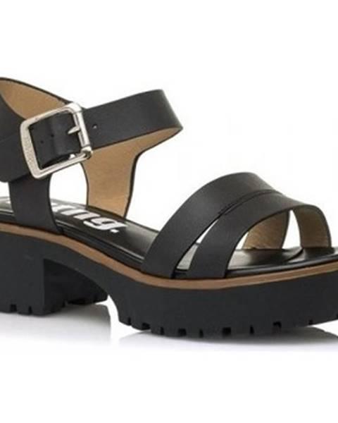Čierne sandále MTNG