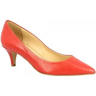 Lodičky Leonardo Shoes  310 NAPPA ROSSETTO