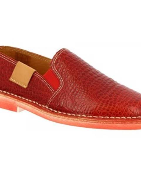 Červené espadrilky Leonardo Shoes