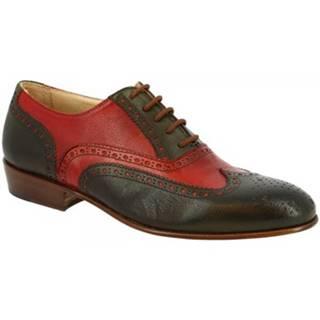 Derbie Leonardo Shoes  037 MARANJA VERDE
