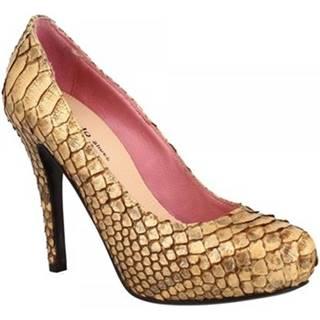 Lodičky Leonardo Shoes  RIOMAGGIORE PITONE BRONZO