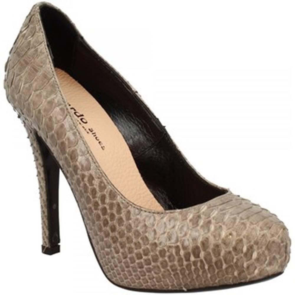 Leonardo Shoes Lodičky Leonardo Shoes  RIOMAGGIORE PITONE GRIGIO