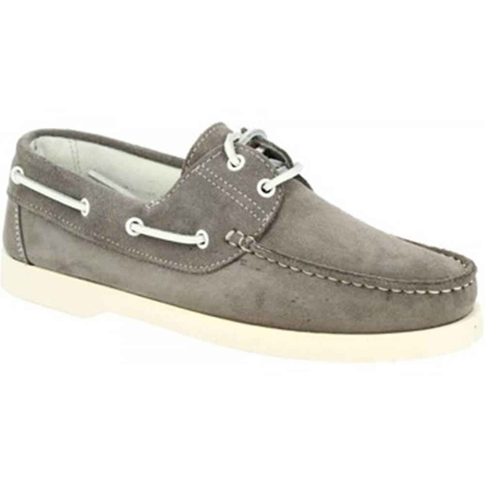 Leonardo Shoes Mokasíny Leonardo Shoes  C04 CAMOSCIO GRIGIO