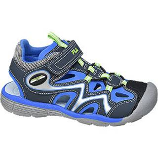 Modré sandále na suchý zips