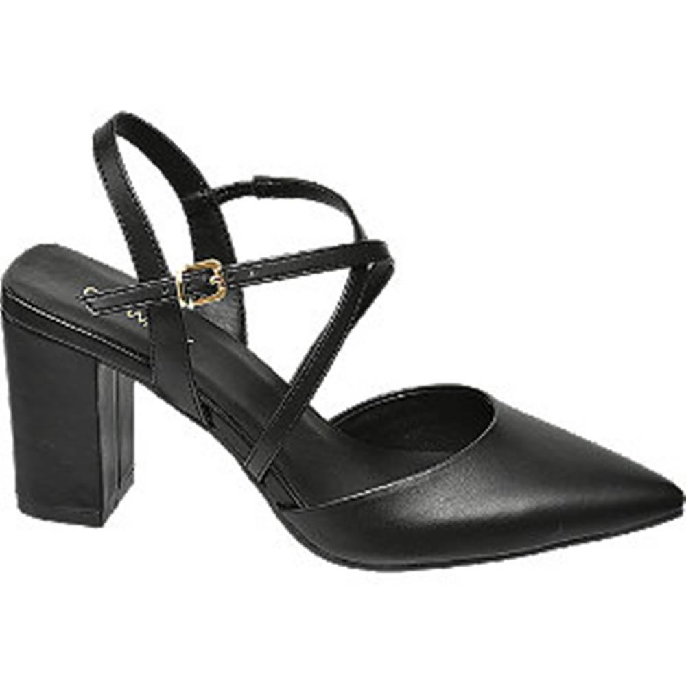Catwalk Čierne sandále na podpätku