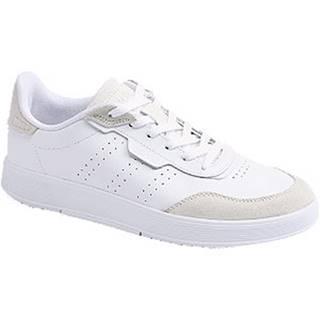 Biele kožené tenisky Adidas Courtrook