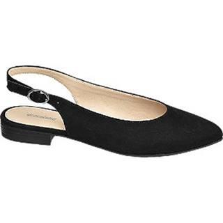 Čierne slingback baleríny Graceland