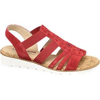 Červené kožené komfortné sandále Medicus