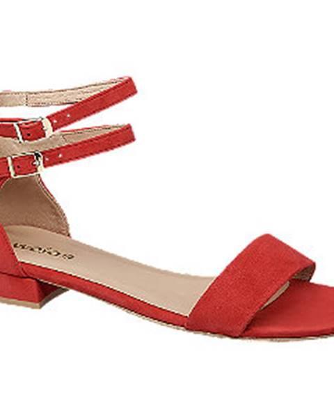 Červené sandále Wojas
