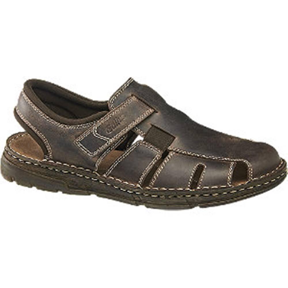 Gallus Hnedé kožené sandále