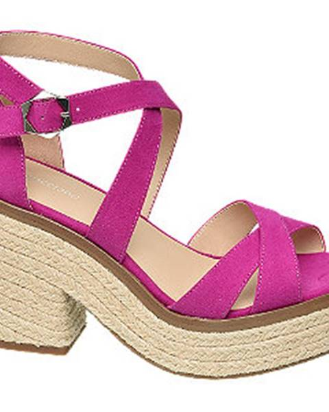Fuksiové sandále Graceland