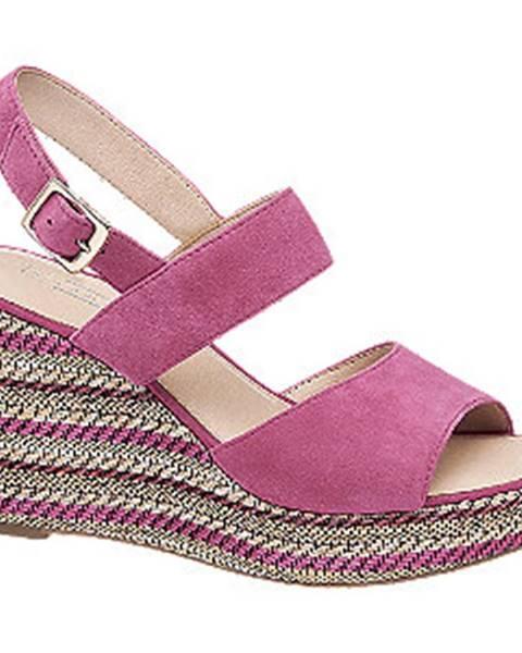 Fuksiové sandále 5th Avenue
