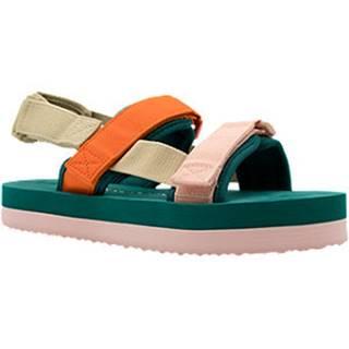 Farebné sandále  na platforme