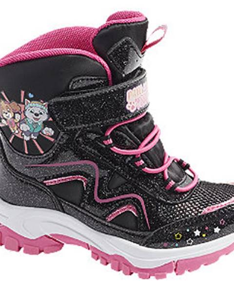 Čierna zimná obuv Paw Patrol