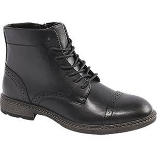 Čierna členková obuv so zipsom Memphis One