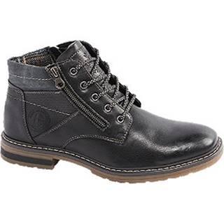 Čierna členková obuv so zipsom