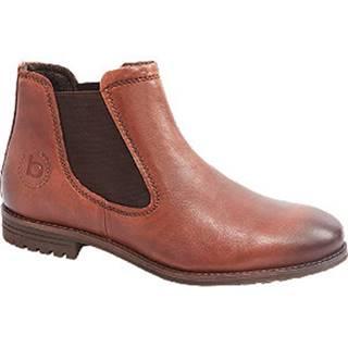 Hnedá kožená členková Chelsea obuv