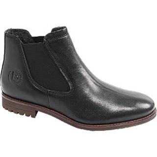 Čierna kožená členková Chelsea obuv Bugatti