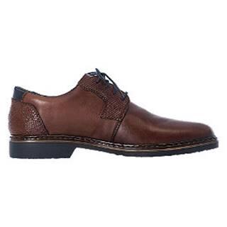 Hnedá kožená komfortná spoločenská obuv