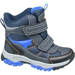 Modrá zimná obuv s TEX membránou Cortina
