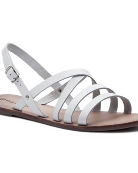 Biele sandále Via Ravia