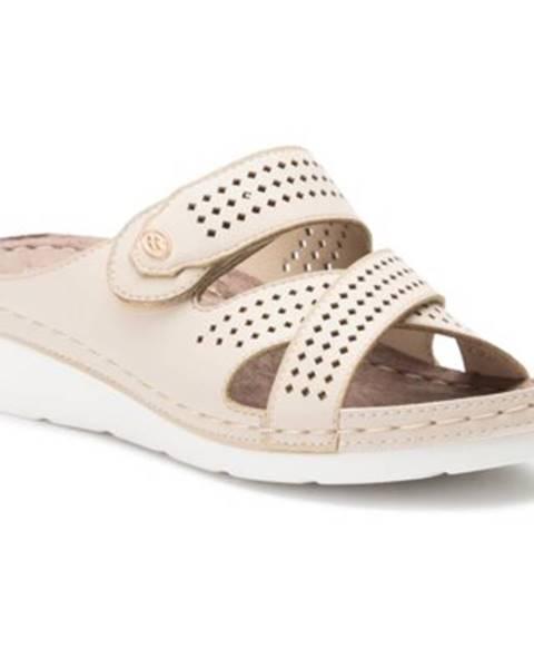 Béžové topánky Clara Barson