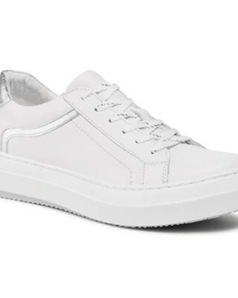 Biele poltopánky Lasocki