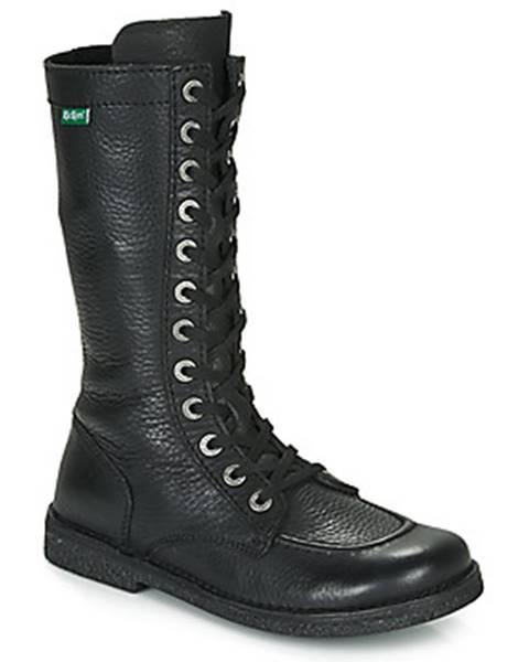 Čierne čižmy Kickers