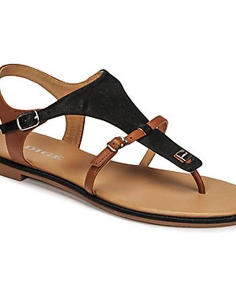 Čierne sandále Adige
