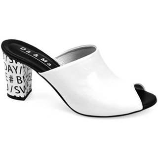 Šľapky  Dámske biele šľapky LISIO