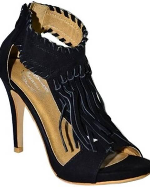 Čierne sandále Mermaid