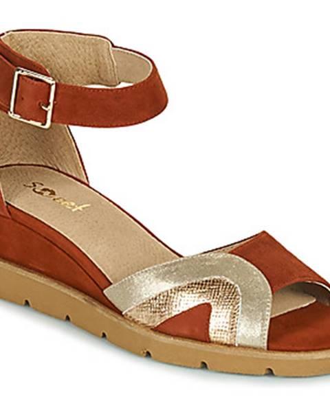 Bordové sandále Sweet